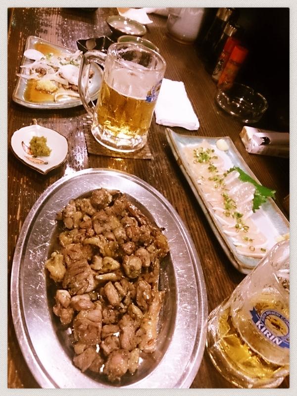 宮崎地鶏とビールのベストマッチ♪