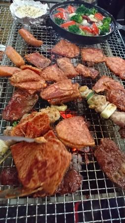 お肉がモリモリBBQ