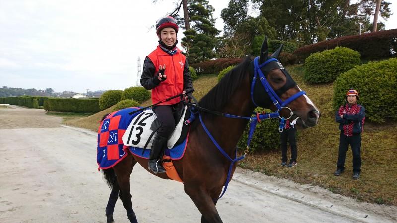タイセイファントム君と騎手候補生の木村君