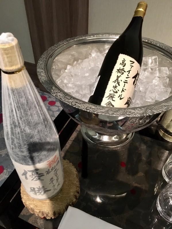 小島茂之調教師から頂いた記念ラベルの日本酒。ありがとうございました