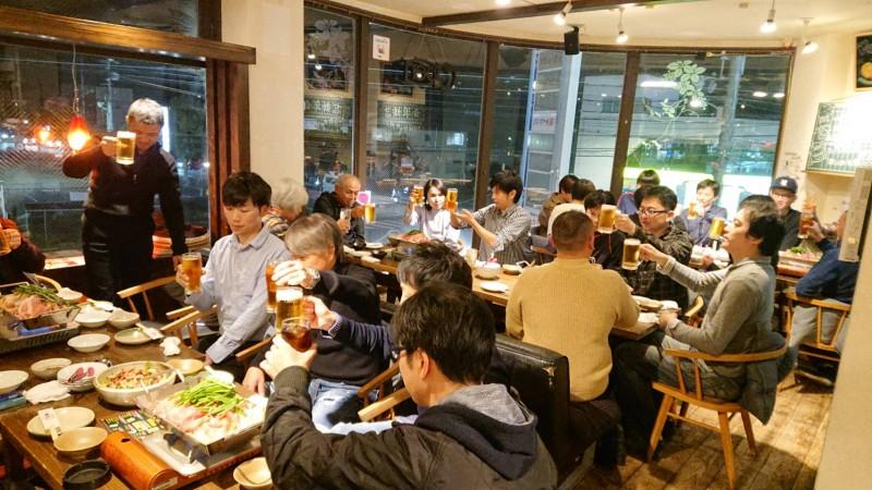 昨日行われた高橋厩舎忘年会☆ おいしいごはんとお酒で楽しいか宴となりました(^^♪